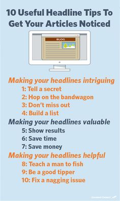10 Useful Headline Tips To Get Your Articles Noticed