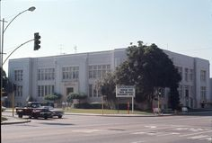 Inglewood High School - 1960's. Like the truck !