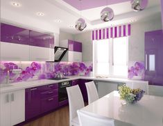 9 Youthful Clever Tips: Kitchen Remodel Plans Farmhouse Style white kitchen remodel knobs.Mobile Home Kitchen Remodel Single Wide kitchen remodel design quartz countertops.Kitchen Remodel Before And After. 1970s Kitchen Remodel, Ranch Kitchen Remodel, Budget Kitchen Remodel, Kitchen On A Budget, Kitchen Remodeling, Purple Kitchen Walls, Purple Kitchen Designs, Kitchen Paint, Ikea Kitchen