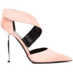 Narciso Rodriguez stiletto pumps (2 010 BGN) ❤ liked on Polyvore featuring shoes, pumps, heels, pink pumps, heels stilettos, pink shoes, pink suede pumps and pink stilettos