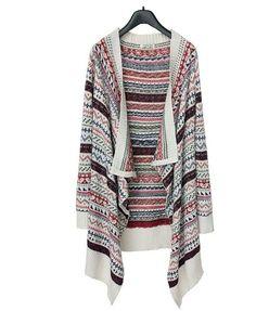 Beige Women Tribal Color Print Watrefall Tassle Long Cardigan,aztec Striped Blanket Wrap Cardigan Sweater YingYing http://www.amazon.com/dp/B00JQ6LQYI/ref=cm_sw_r_pi_dp_oAsrub0D5KAFD
