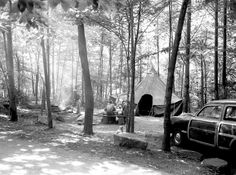Chimneys Campground, June 2, 1952, Great Smoky Mountains National Park, Abbie…