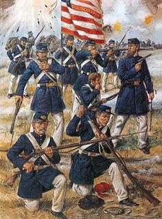 """US Marines at First Manassas (Bull Run), July 21, 1861""   Richard Hook"