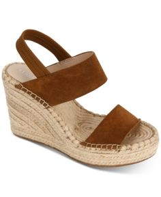 a1f90a1a1c Kenneth Cole New York Women's Olivia Simple Wedge Sandals - Brown 6.5M  Suede Sandals,
