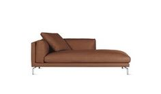 Como Chaise In Leather, Left  Industrial, MidCentury  Modern, Leather, Chaise…