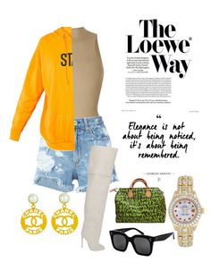 """""""In Between days ."""" by kevinloe on Polyvore featuring Yeezy by Kanye West, rag & bone/JEAN, Chanel, Loewe, Louis Vuitton, Rolex and CÉLINE"""