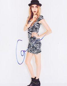 Cara Delevingne Autographed Signed 8X10 Photo COA