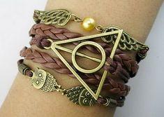Harry Potter Inspired Faux Leather Wrap Bracelet in by FreyasIdea