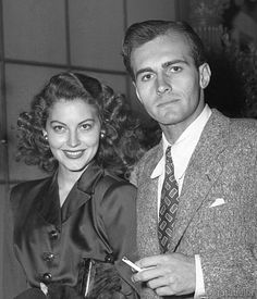 gatabella:  Ava Gardner and actor Helmut Dantine, c.1944