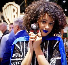 Game of Thrones: Nathalie Emmanuel at San Diego Comic Con 2017 SDCC (photo via Game of Thrones Instagram)