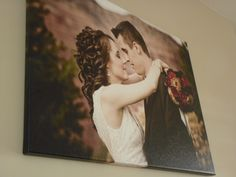 Wow!  A beautiful #wedding moment on canvas
