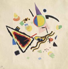 blastedheath:  Wassily Kandinsky (Russian, 1866-1944), Untitled, 1921. Watercolour and brush and India ink on paper, 23.5 x 23 cm.