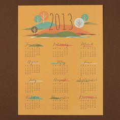 Seasons 2013 Calendar - Free Printable