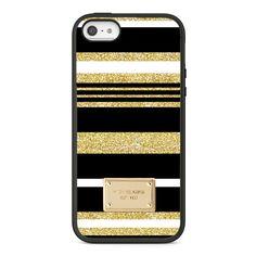 0fbc811d0 New Hard Case Cover Printed MK Glitter Black Stripe Pattern For iPhone 7 7
