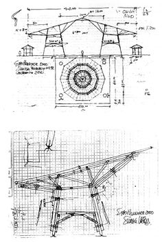 Simon Velez - sketch | Designing the Zeri Pavilion