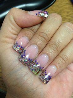 Glitter Acrylic Nails - Nail Art Gallery by NAILS Magazine