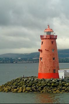 Poolbeg Light, Dublin Bay-by Oh Kaye
