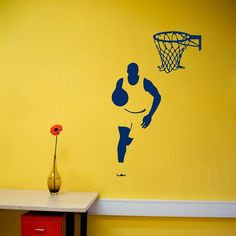 Wall Decals Sport People Man Basketball Player Home by DecalHouse, $17.99