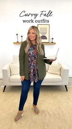 Beautiful Outfits, Cute Outfits, Beautiful Clothes, Fall Outfits For Work, Blazer Outfits, Daily Look, Capsule Wardrobe, Autumn Winter Fashion, Plus Size Outfits