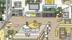 adorable home decor game lounge Sweet Home, Simons Cat, Cute App, Ad Home, Home Modern, Japanese Games, Cute Games, Furniture Layout, Layout Inspiration