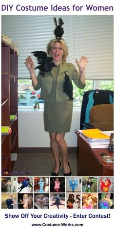 Homemade Costumes for Women  sc 1 st  Pinterest & Coolest Wind Blown Lady Costume | Funny Halloween Costumes ...