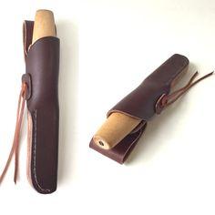 Custom Leather Knife Sheath for Morakniv Erik Frost 106 Wood Carving Knife - By Gillie Leather