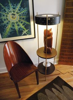 50's modernist Laurel lamp table