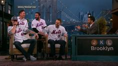 """Members of the National League-champion Mets appear on """"Jimmy Kimmel Live"""" and about the night Wilmer Flores wasn't traded and not forgetting retribution against Chase Utley."""