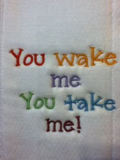 embroidered diaper burp cloth in multi color  by karenhannarosson, $7.99