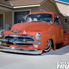 Check out Eddie Tovar's 1954 Chevy 3100 pickup truck which was a tribute to his grandpa's 1954 Chevrolet Pickup, only at Classic Trucks Magazine 1954 Chevy Truck, Custom Chevy Trucks, Chevrolet Trucks, Custom Cars, 1955 Chevrolet, Chevrolet Impala, American Pickup Trucks, Vintage Pickup Trucks, Classic Pickup Trucks