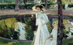María en los jardines de La Granja. 1907