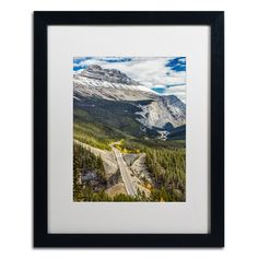 """Trademark Art """"Icefield Parkway"""" by Pierre Leclerc Framed Photographic Print Size: 20"""" H x 16"""" W x 0.5"""" D"""