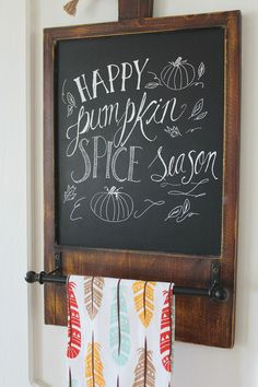 Love this fall chalkboard!
