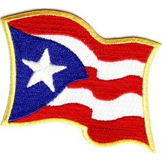 Puerto Rico Flag Embroidered Iron On Patch Officially Licensed Best Picture For Arizona tea For Your Taste You are looking for something, and it is going to tell you exactly what you are looking for, Flag Patches, Cool Patches, Sew On Patches, Iron On Patches, Puerto Rico, American Flag Colors, Puerto Rican Flag, Arts And Crafts Supplies, Amazon Art