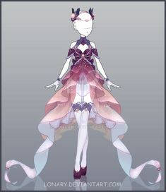 [Open] Design by Lonary. on - Fantasy Fashion - Anime Kimono, Anime Dress, Drawing Anime Clothes, Dress Drawing, Clothing Sketches, Dress Sketches, Fashion Design Drawings, Fashion Sketches, Fantasy Dress