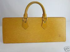 VINTAGE LOUIS VUITTON YELLOW EPI LEATHER SAC TRIANGLE HANDBAG