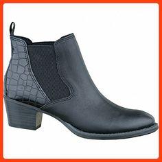 Damen Schuhe Ankle Boots Schwarz Gr 41 Yours UK Breite Füße