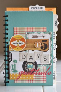 Create a Gratitude Journal using the Cinch. #wermemorykeepers #cinchtool #minialbums