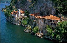 """serenella65: """"Eremo di Santa Caterina del Sasso (Lago Maggiore, Italia)"""""""