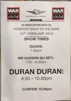 Are.You.Getting,Ready.For.DuranDuran.LONDON!?!?!?