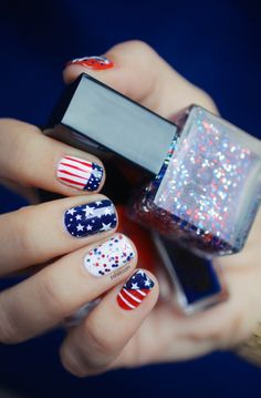 4th Of July Nail art.