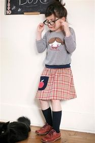 Misha Lulu - Misha's World - Plaid Apple Skirt