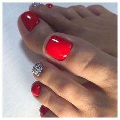 44 Amazing Toe Nail Colors To Choose In 2019 Nagellack rot Pedicure Colors, Pedicure Designs, Manicure E Pedicure, Toe Nail Designs, Acrylic Nail Designs, Pedicure Ideas, Nails Design, Acrylic Nails, Blue Pedicure