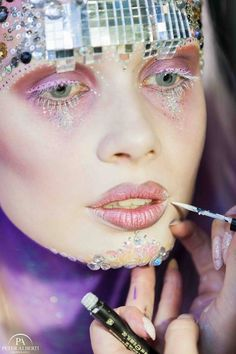 Blizzard Disco Make-up Creation Demonstrated at... - Karla Powell Make-up Artist