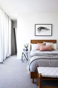 50 Ideas bedroom ideas grey carpet headboards #bedroom