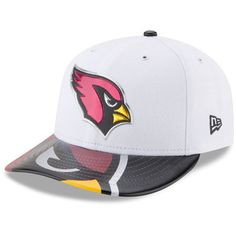 Men s New Era White Arizona Cardinals 2017 NFL Draft On Stage Low Profile  59FIFTY Fitted Hat fc9a3bb18
