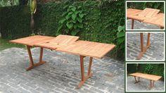 Eucalyptus Patio Table, Outdoor Furniture, Wood Dining Table, Eucalyptus Furniture 92 x 39x 30 $1500