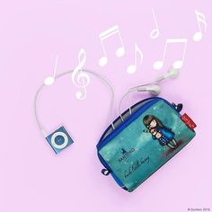 Protect your #tech in #style with our adorable gadget pouches! What's on your #summer #playlist?! ☀️ #Gorjuss #SantoroLondon  Shop at: http://www.santoro-london.com/shop/gorjuss-gadget-pouch-hush-little-bunny.html