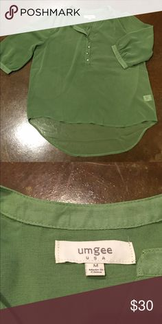 Umgee Top 3/4 sleeve shirt Green Umgee top never worn umgee Skirts