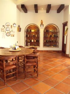 Spanish Style Interiors, Spanish Style Bathrooms, Mexican Kitchen Decor, Mexican Home Decor, Outdoor Patio Designs, Mediterranean Home Decor, Home Interior Design, New Homes, Sweet Home